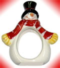 Mini Snowman in Red Scarf