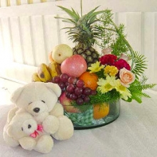 Delicious Fruits Plus Bear for your Love Ones