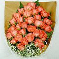 36 fresh pink roses bouquet