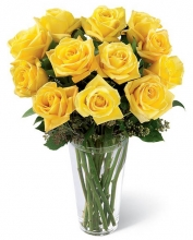 12 Stem Yellow Roses