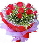 12 Red Roses Roses in Bouquet
