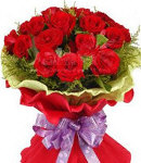 24 Red Roses in Bouquet