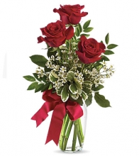 Today And Everyday 3 Pcs Red Roses
