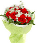 12 Red Roses in Bouquet