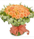 36 Orange Roses in Bouquet