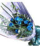 12 Holland blue Roses in Bouquet