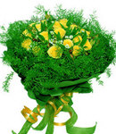 24 Yellow Roses in Bouquet