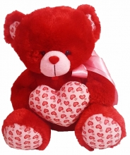 Valentine's Teddy Bear with heart