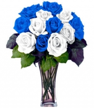 12 Alternate Colors of Blue and White Roses