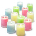 6 pcs wonderful candles with glass holder
