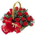 24 Red Roses & Chocolate Box