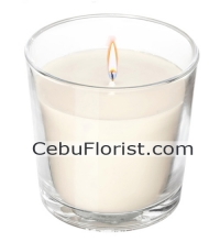 1pcs White Scented Tealight Candles in a Glass