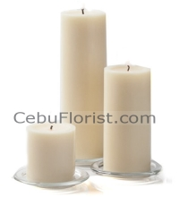 3 Size White Candles