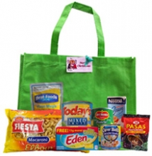 Groceries Macaroni Package with Green Bag