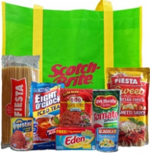 Groceries Spaghetti Package with Scotch-Brite Bag