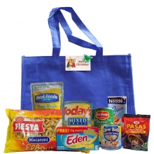 Groceries Macaroni Package with Blue Bag