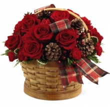 6 Pieces Red Roses and Carnations
