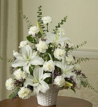 Sympathy Flower Basket for the Home