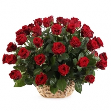 36 Wonderful Roses in Basket