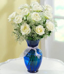 Vase Arrangement with White Roses