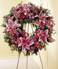 Wreath of Seasonal Flower,Daisies and more