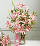 Lily Vase Arrangement for Sympathy