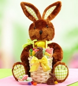 Easter Bunny Plush & Gift Basket of Sweets