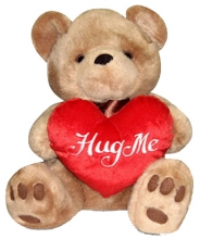Teddy Bear Hug me on Heart