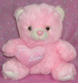 "12"" Pink Bear w/ Love Pillow"