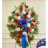 Patriot Standing Flowers Spray
