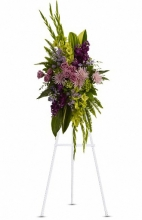 Artistic Green and Purple Standing Spray