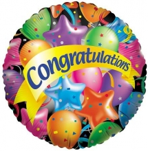1pc Congratulations Balloons