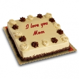 Mother's Day Mocha Dedication Cake by Red Ribbon