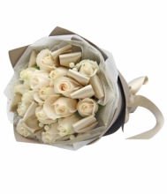 White Roses in Bouquet