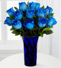 12 Stems Imported Holland Blue Roses
