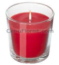 1 Pcs Red Scented Candles in a Glass