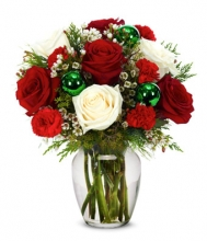 Christmas Mixed Flower Vase