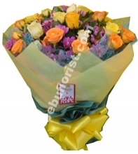 1 Dozen Mixed Roses with Seasonal Flower