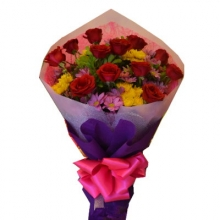 Buy 12 Red Roses Bouquet