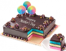 Mother's Day Rainbow Dedication Cake By Red Ribbon