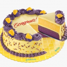 Creamy Quezo Ube Cake By Goldilocks