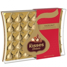 Hershey's Kisses Deluxe Whole Roasted Hazelnut Center Chocolate