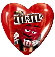M&M'S Milk Chocolate Candy Hearts