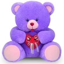 1 Feet 1 Inch Blue Colour Bear With Heart