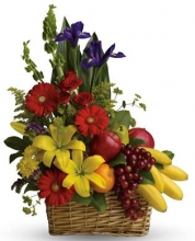 Mix Flower w/ Fruit Basket