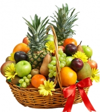 Basket of Assorted Fresh Fruit
