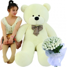 5 Feet Giant Bear W/ 36 Red Roses