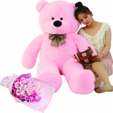 5 Feet Giant Bear W/ 36 Pink Roses