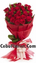 24 Pieces Red Rose Bouquet