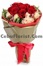 6 Pieces Rose with Seasonal Flower